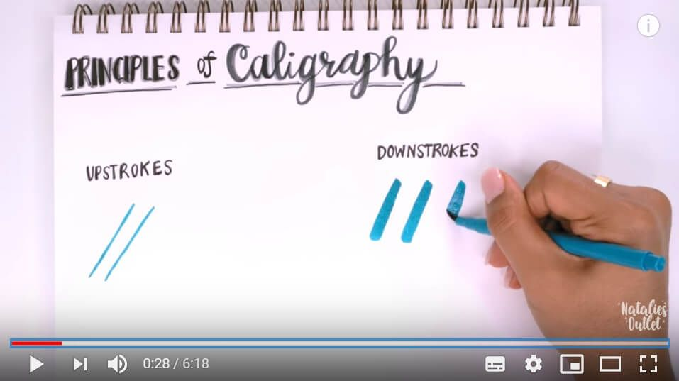 A calligraphy how-to video