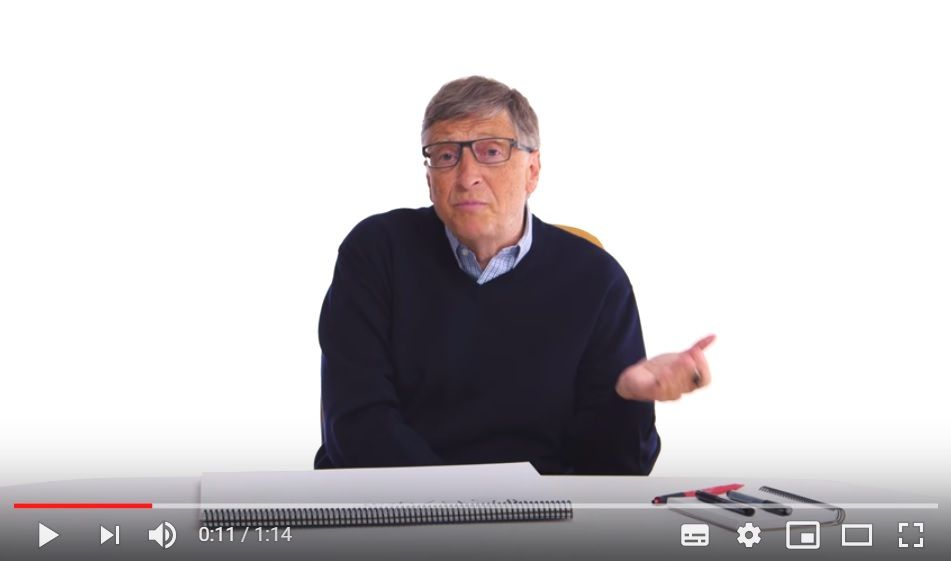 Bill Gates in an Explainer video