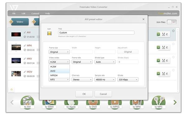 Freemake interface