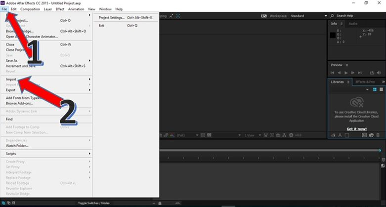 Importing audio file in After Effects