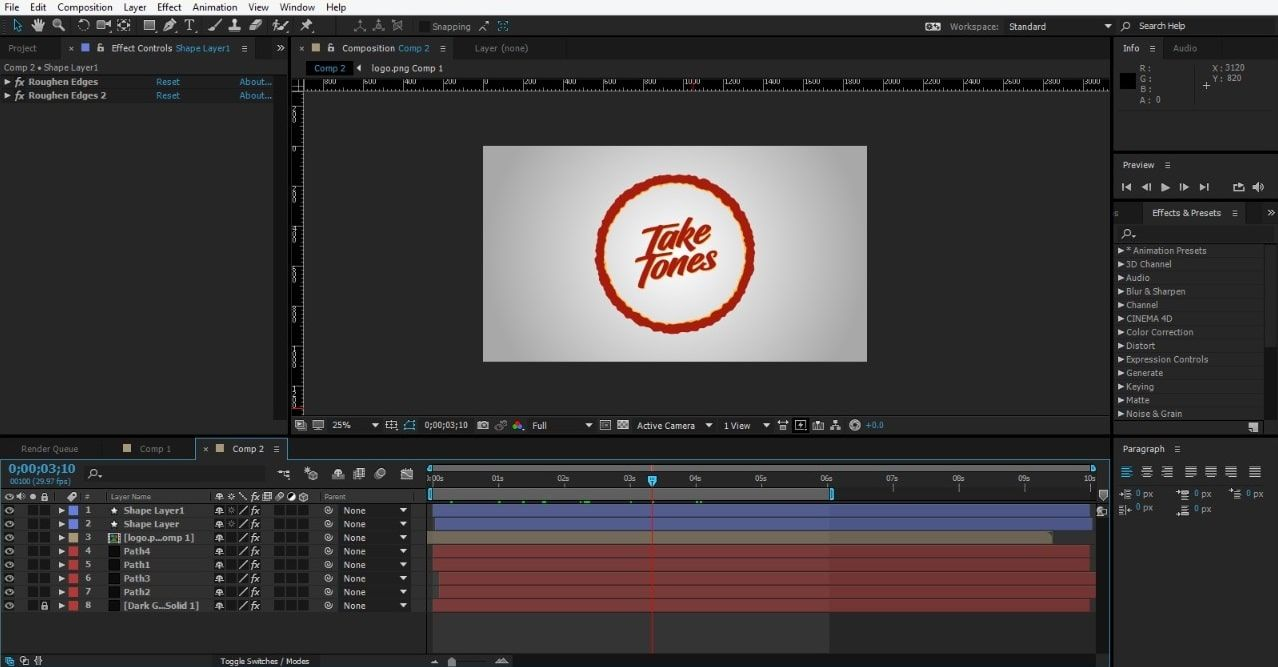 Add the logo to animation